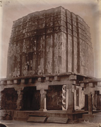 General view of the great unfinished temple (Lakshmi Narayan Temple) at Deoghar (or Baijnath), Sonthal Parganas.